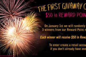 December Reward Points Giveaway