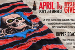 Ripper Towel Giveaway for Reward Members