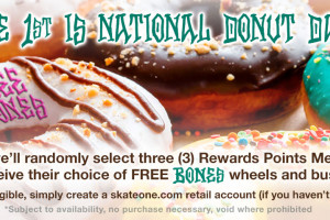BONES Wheels Giveaway for Reward Members