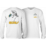 Powell Peralta Skateboarding Skeleton L/S Shirt White