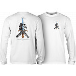 Powell Peralta Skull and Sword L/S T-shirt White