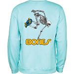 Powell Peralta Skateboard Skeleton Midweight Crewneck Sweatshirt - Mint Green
