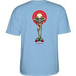 Powell Peralta Tucking Skeleton T-shirt Carolina Blue