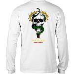 Powell Peralta Skull & Snake L/S Shirt White