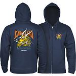 Powell Peralta Cab Street Hooded Zip Sweatshirt - Navy