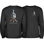 Powell Peralta Skull & Sword Midweight Crewneck Sweatshirt - Black