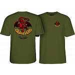 Powell Peralta Steve Caballero Dragon II T-shirt - Military Green