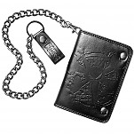 BONES WHEELS Rat Embossed Wallet - Black