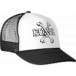 Powell-Peralta Cross Bones Trucker Cap - Black/White