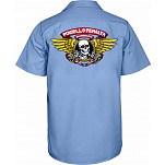 Powell-Peralta Winged Ripper Work Shirt - Blue