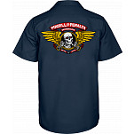 Powell-Peralta Winged Ripper Work Shirt - Navy