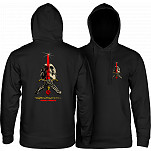 Powell-Peralta Skull & Sword Hooded Pullover - Black