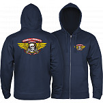 Powell-Peralta Winged Ripper Hooded Zip - Navy