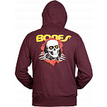 Powell-Peralta Ripper Hooded Zip - Burgundy
