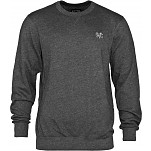 BONES WHEELS Crew Neck Sweatshirt - Charcoal
