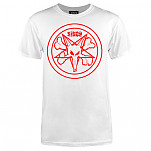 BONES WHEELS Pentagram T-shirt - White