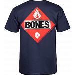 Powell-Peralta Bones Flammable T-shirt - Navy