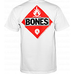 Powell-Peralta Bones Flammable T-shirt - White