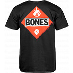 Powell-Peralta Bones Flammable T-shirt - Black
