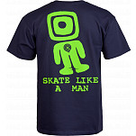 Powell-Peralta Skate Like A Man T-shirt - Navy