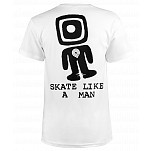 Powell-Peralta Skate Like A Man T-shirt - White