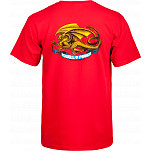 Powell-Peralta Oval Dragon T-shirt - Red