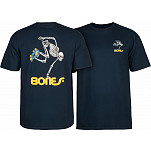 Powell-Peralta Skate Skeleton T-shirt - Navy
