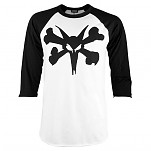 BONES WHEELS Bold Type 3/4 Sleeve Raglan - Black/White