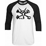 BONES WHEELS 3/4 Sleeve Shirt Raglan Vato Grande - Black/White
