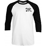BONES WHEELS 3/4 Sleeve Shirt Raglan Vato Poquito - Black/White