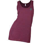 hoopla Woman's Embroidered Tank Top - Cranberry