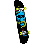 "Powell Peralta Blacklight Skull and Snake Green 8.0"" Complete"