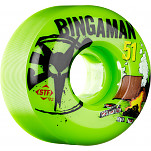 BONES WHEELS STF Pro Bingaman Camp 51mm Green 4pk