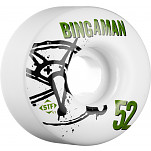 BONES WHEELS STF Pro Bingaman Numbers 52mm 4pk