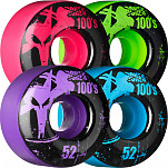 BONES WHEELS 100 Slims 52mm - Assorted Colors (4 pack)