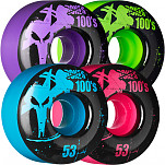 BONES WHEELS 100 Slims 53mm - Assorted Colors (4 pack)