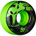 BONES WHEELS 100 Slims 51mm - Green (4 pack)