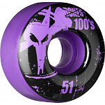 BONES WHEELS 100 Slims 51mm - Purple (4 pack)