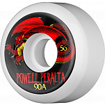 Powell-Peralta Oval Dragon 56mm 90a - White (4 pack)