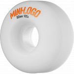 Mini Logo Wheel C-cut 52mm 101A White 4pk
