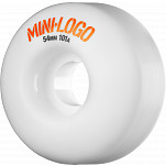 Mini Logo Wheel C-cut 54mm 101A White 4pk