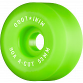 "Mini Logo Skateboard Wheels A-cut ""2"" 53mm 90A Green 4pk"