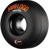Mini Logo Skateboard Wheels C-cut 54mm 101A Black 4pk
