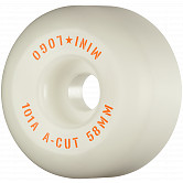 "Mini Logo Skateboard Wheels A-cut ""2"" 58mm 101A White 4pk"