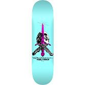 Powell Peralta Skull and Sword Skateboard Blem Deck Pastel Blue 242 K20 - 8 x 31.45