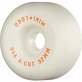 "Mini Logo Skateboard Wheels A-cut ""2"" 52mm 95A White 4pk"