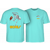 Powell Peralta Skateboarding Skeleton T-shirt - Celadon