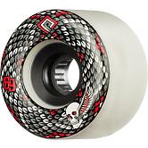 Powell Peralta Snakes Skateboard Wheels 69mm 75a 4pk White