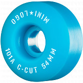 "Mini Logo Skateboard Wheels C-cut ""2"" 54mm 101A Blue 4pk"