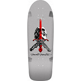 Powell Peralta Ray Rodriguez OG Skull and Sword Skateboard Deck Silver - 10 x 30